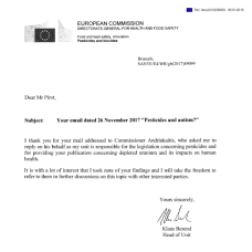 lettre Andriukaitis