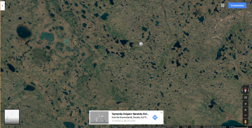 lots of black crosses scattered uranium to the right north norilsk